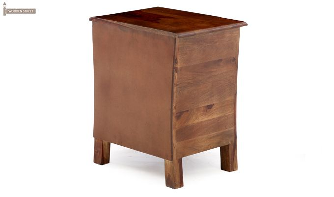 Alvis Bedside Table (Teak Finish)-12