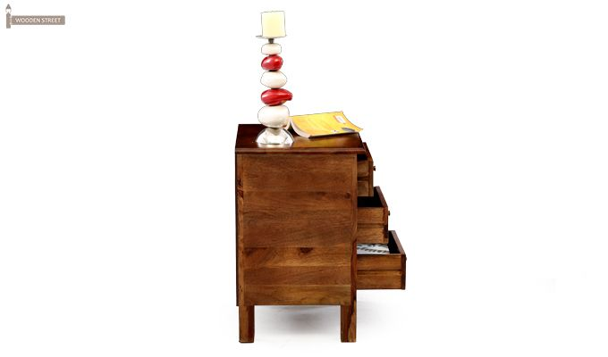 Alvis Bedside Table (Teak Finish)-4