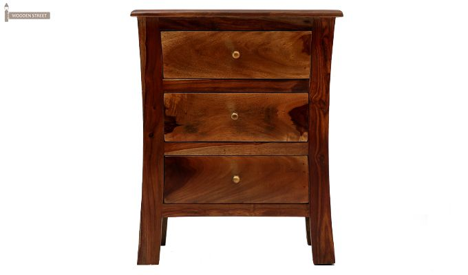 Alvis Bedside Table (Teak Finish)-5