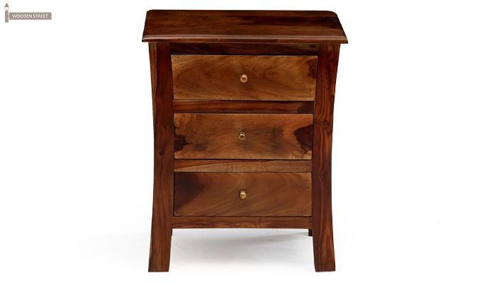 Alvis Bedside Table (Teak Finish)-6