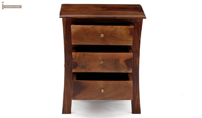 Alvis Bedside Table (Teak Finish)-7