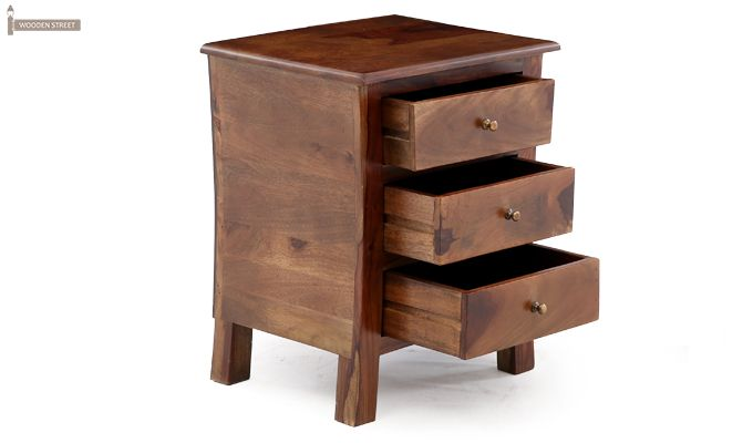 Alvis Bedside Table (Teak Finish)-9