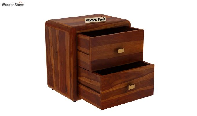 Aron Bedside Table (Honey Finish)-4