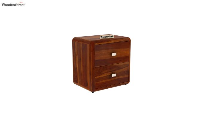 Aron Bedside Table (Honey Finish)-2