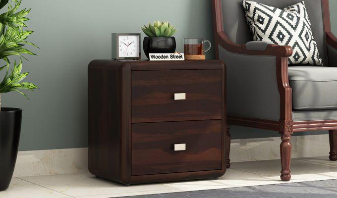 Aron Bedside Table (Walnut Finish)-1