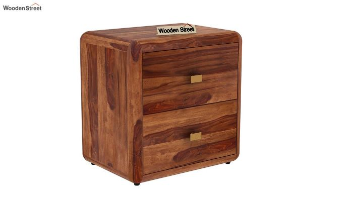 Aron Bedside Table (Teak Finish)-2