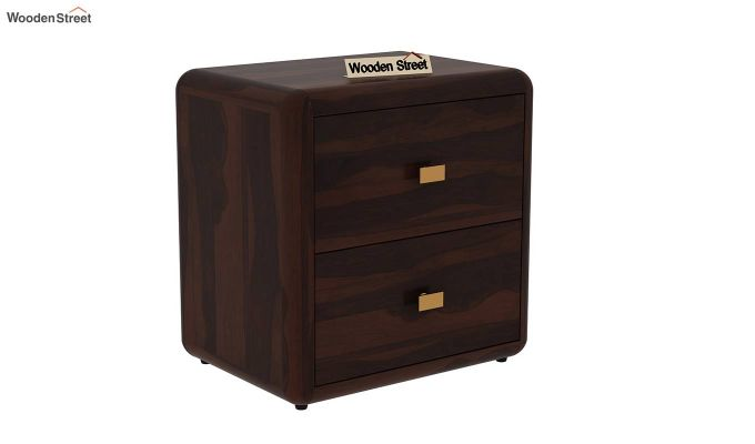 Aron Bedside Table (Walnut Finish)-2