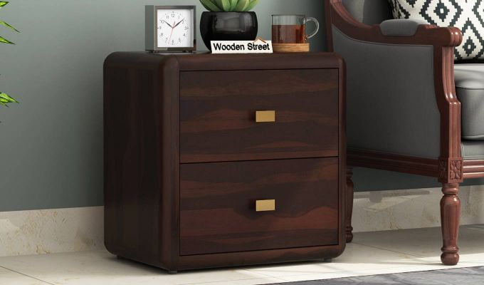 Aron Bedside Table (Walnut Finish)-1