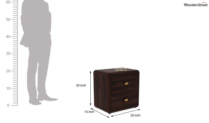 Aron Bedside Table (Walnut Finish)-5