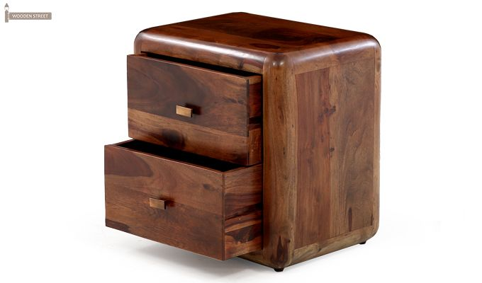 Aron Bedside Table (Teak Finish)-11
