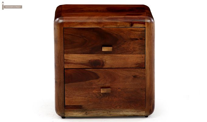 Aron Bedside Table (Teak Finish)-4
