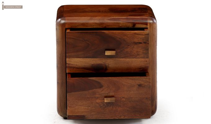 Aron Bedside Table (Teak Finish)-5