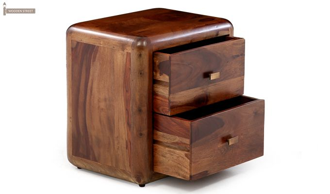 Aron Bedside Table (Teak Finish)-7