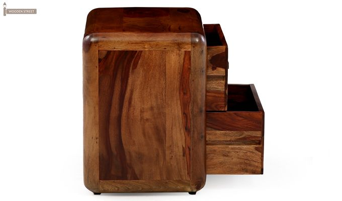 Aron Bedside Table (Teak Finish)-9