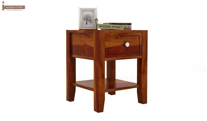 Attica Bedside Table (Honey Finish)-1