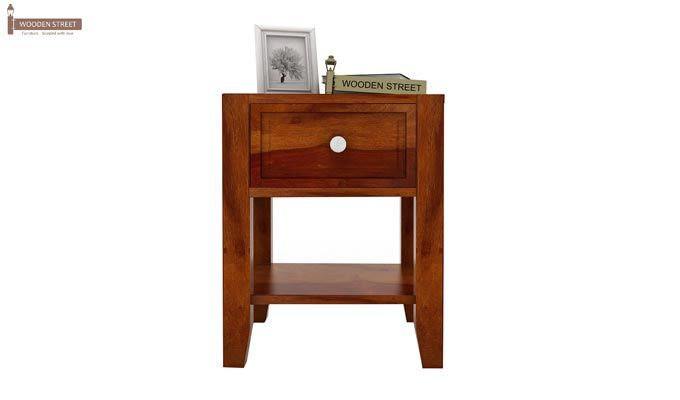 Attica Bedside Table (Honey Finish)-2