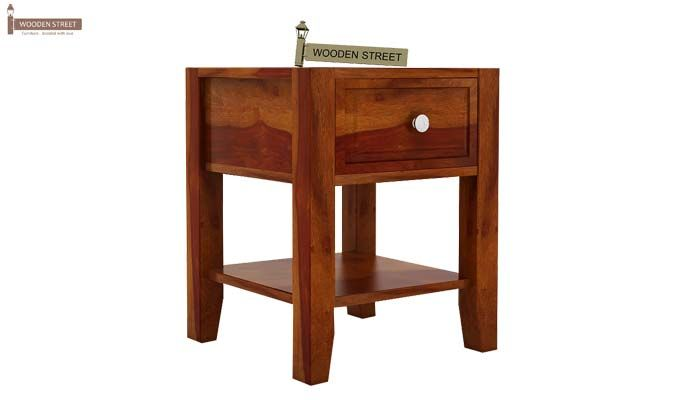 Attica Bedside Table (Honey Finish)-3