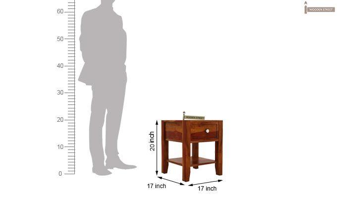 Attica Bedside Table (Honey Finish)-4