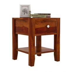 Attica Bedside Table (Honey Finish)