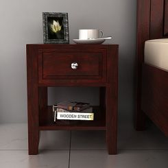 Attica Bedside Table (Mahogany Finish)