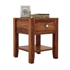 Attica Bedside Table (Teak Finish)