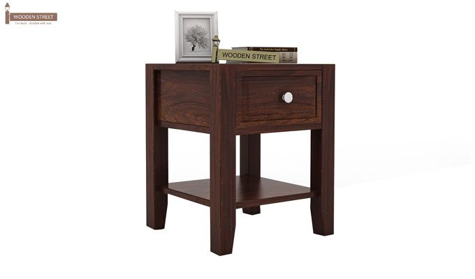 Attica Bedside Table (Walnut Finish)-1