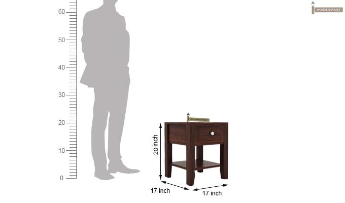 Attica Bedside Table (Walnut Finish)-4