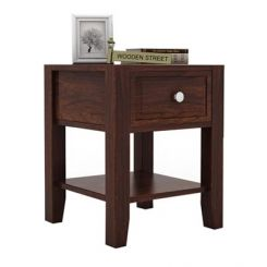 Attica Bedside Table (Walnut Finish)