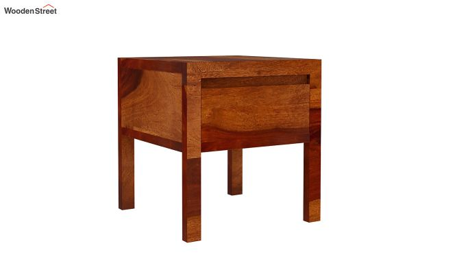 Bacon Bedside Table (Honey Finish)-5