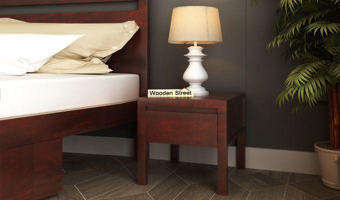 Bacon Bedside Table (Mahogany Finish)-1