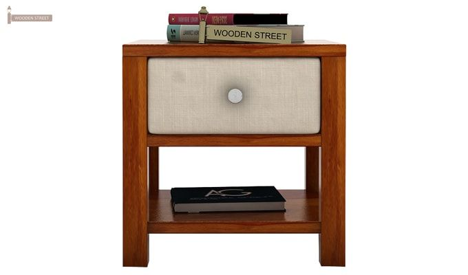 Biranna Bedside Table (Honey Finish)-2