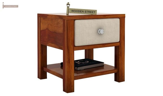 Biranna Bedside Table (Honey Finish)-3