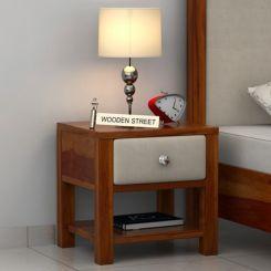 Biranna Bedside Table (Honey Finish)