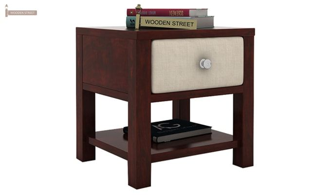 Biranna Bedside Table (Mahogany Finish)-1
