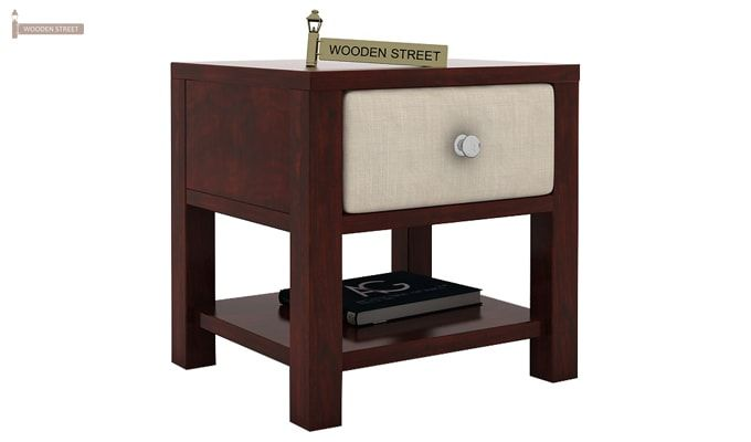 Biranna Bedside Table (Mahogany Finish)-3