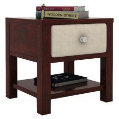 Biranna Bedside Table (Mahogany Finish)