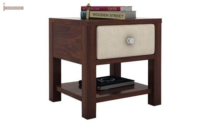 Biranna Bedside Table (Walnut Finish)-1