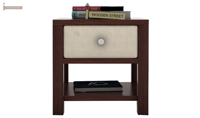 Biranna Bedside Table (Walnut Finish)-2