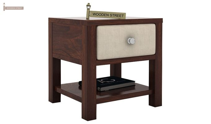 Biranna Bedside Table (Walnut Finish)-3
