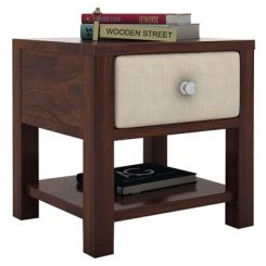 Biranna Bedside Table (Walnut Finish)
