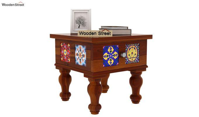 Boho Bedside Table (Honey Finish)-2