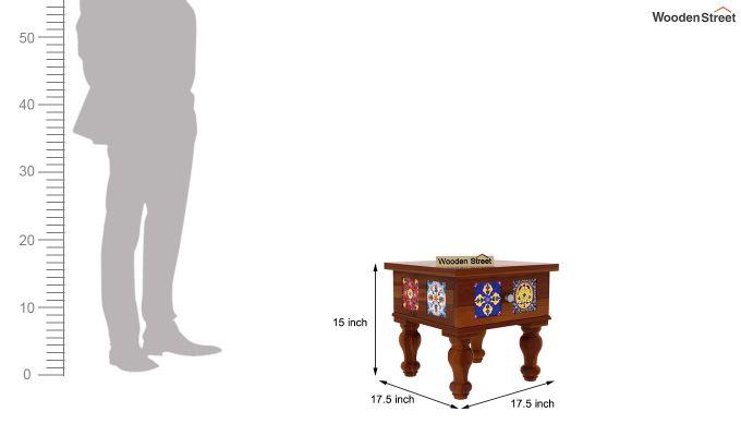 Boho Bedside Table (Honey Finish)-5