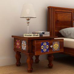 Boho Bedside Table (Honey Finish)
