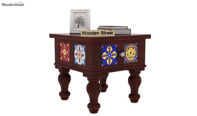 Boho Bedside Table (Mahogany Finish)-1