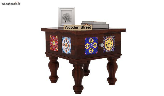 Boho Bedside Table (Walnut Finish)-1