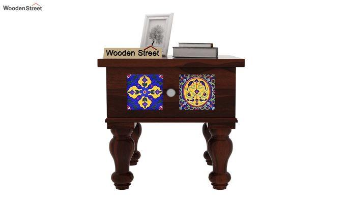 Boho Bedside Table (Walnut Finish)-2