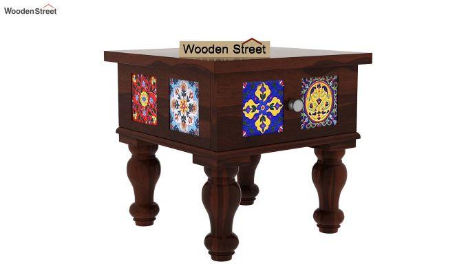 Boho Bedside Table (Walnut Finish)-3
