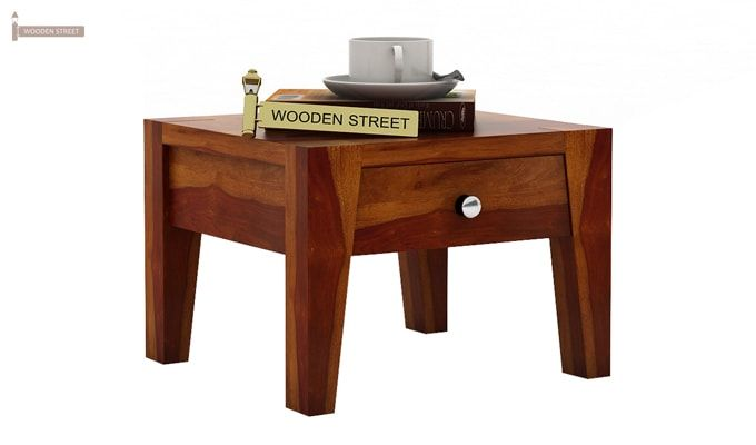 Bois Bedside Table (Honey Finish)-3