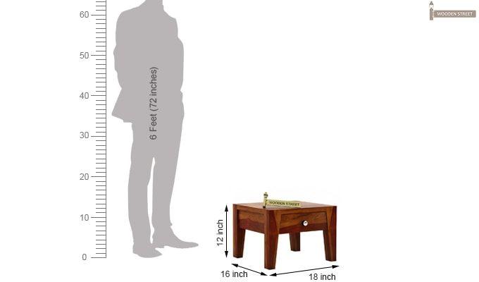 Bois Bedside Table (Honey Finish)-4