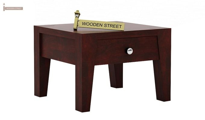 Bois Bedside Table (Mahogany Finish)-1